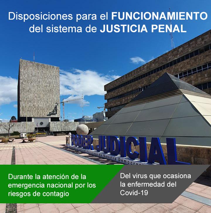 Funcionamiento del sistema de justicia penal por la emergencia nacional Covid19