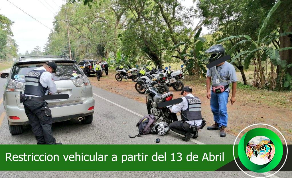 Nuevas medidas de restricción aplicarán del 13 al 30 de abril